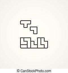 tetris vector icon sign symbol