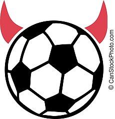 teufel, fußball ball