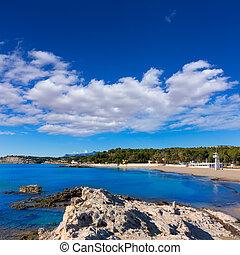 teulada, ampolla, la, moraira, alicante, playa, playa,...