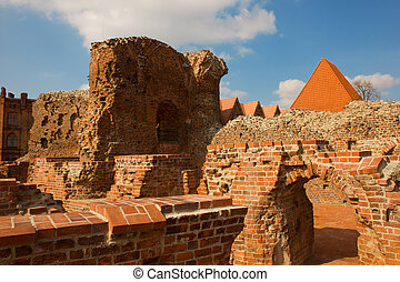 Teutonic Knights castle, Torun, Poland - ruins of of...