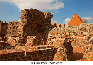 ruins of of Teutonik knights castle, Torun, Poland