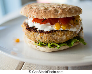 Texan burger - Texan style chicken burger