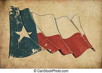 texan, grunge, carta da parati, bandiera, fondo, textured