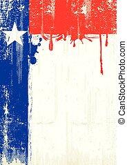texas, świeży, malarstwo, afisz