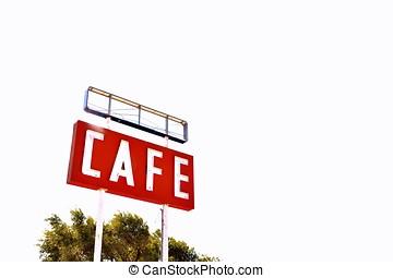 texas., カフェ, 印