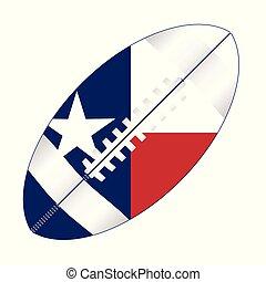 Texas American Football Ball Flag