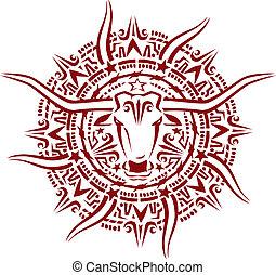 Texas Aztec Sunburst - Stylized southwestern design...