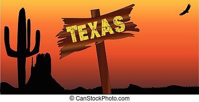 Texas Border Sign