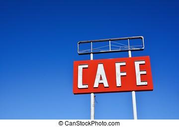 texas., café, sinal