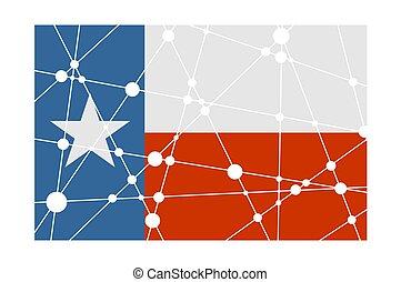 Texas flag concept