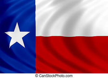 Texas flag of silk