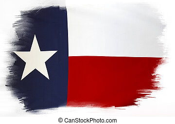 Texas flag on plain background