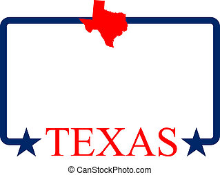 Texas frame - Texas state map, frame and name.