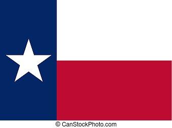 texas, grafický, prapor