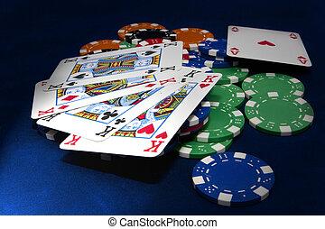 Texas hold-em 4 kings hand