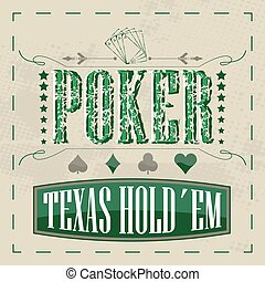 Texas holdem poker background