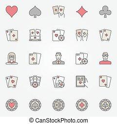 Texas holdem poker icons