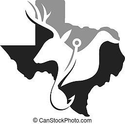 Texas Hunting Fishing. cdr