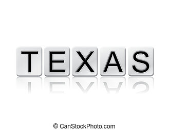 Texas Isolated Tiled Letters Concept and Theme
