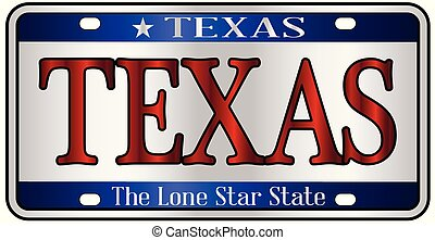 Texas License Plate - Texas state license plate mockup spoof...