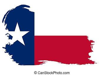 texas lobogó, grunge, állam, határ
