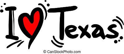 Texas love - Creative design of texas love