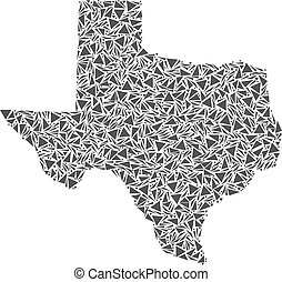 Texas Map of Triangles