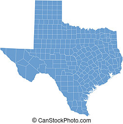 Texas map by counties