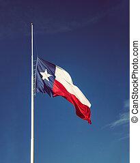 texas, mimât, voler, drapeau état