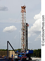 Texas Oil Well. - Texas oil well rig.