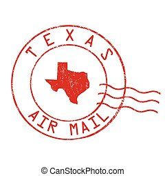 Texas post office, air mail stamp