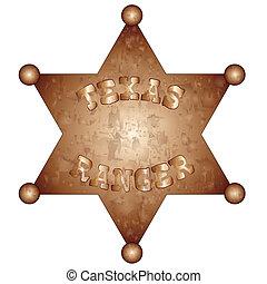Texas Ranger - A US Texas Ranger badge.