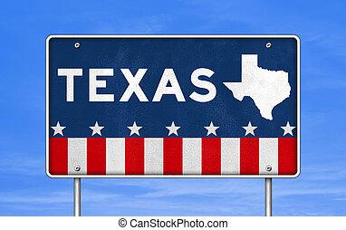 TEXAS - road sign