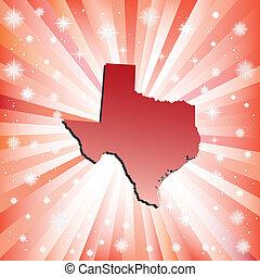 texas., rojo