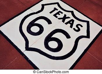 texas., rota 66, sinal