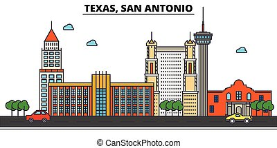 Texas, San Antonio.City skyline: architecture, buildings,...