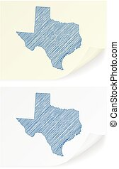Texas scribble map