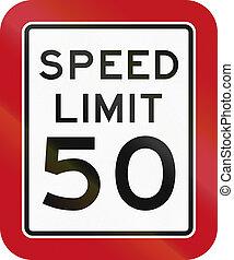 Texas Speed Limit Sign