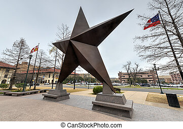 Texas Star in front of the Bob Bullock Texas State History...