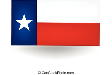 Texas State Flag - Official flag of the state of Texas.