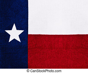Texas State Flag on textured fabric