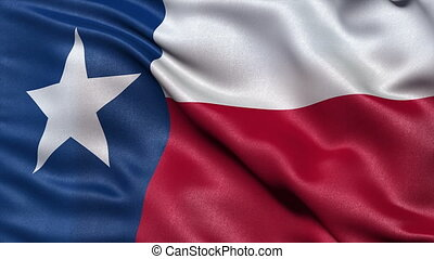 Texas state flag seamless loop - Realistic Texas state flag...