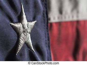 Texas State Flag - Close up horizontal shot of Texas state...