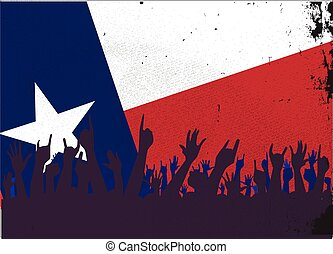 Texas State Flag with Audience