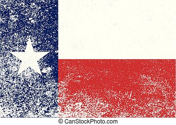 Texas State Grunge Flag