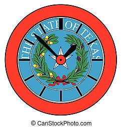 Texas State Seal Clock