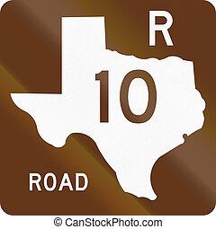 texas, szórakozási, út, pajzs