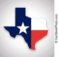texas tx state flag map vector