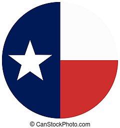 Texas vector flag