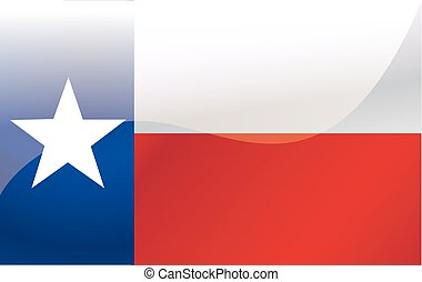texas., vlag, vector, illustratie